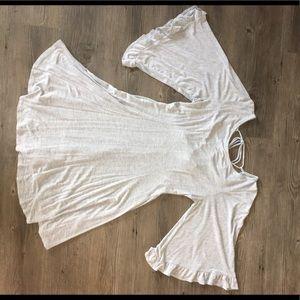 Gray Dress Back Lace Design